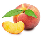 Ripe peach fruit Royalty Free Stock Images