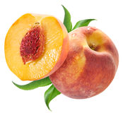Ripe peach fruit. Stock Photo