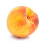 Ripe peach fruit isolated royalty free stock photography