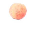 Ripe peach fruit isolated with space area Stock Photo