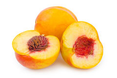 Ripe peach fruit Stock Image