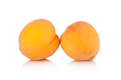 Ripe peach fruit on a white background Royalty Free Stock Images