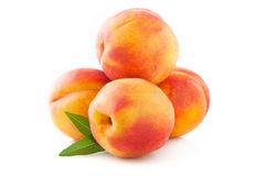 Ripe peach fruits Royalty Free Stock Images