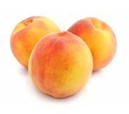 Ripe peach fruits isolated Stock Photos