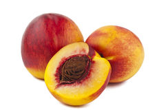 Ripe peach isolated Royalty Free Stock Photo