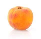 Ripe Peach. Isolated on White Background stock images