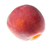 Ripe peach isolated on a white background.  Stock Photo
