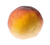 Ripe peach isolated on a white background Stock Photos