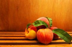 Ripe peach Stock Image
