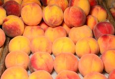 Ripe peach in the market Stock Photography