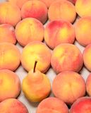 Ripe peach in the market Royalty Free Stock Photos