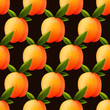 Ripe peach seamless background Royalty Free Stock Photography