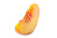 Ripe peach slice Stock Photos