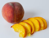 Ripe peach whit slices Stock Photography