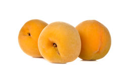 Ripe peach on white Stock Image