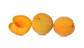 Ripe peach on white Royalty Free Stock Photo
