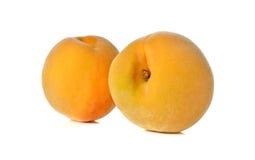 Ripe peach on white background Stock Photo