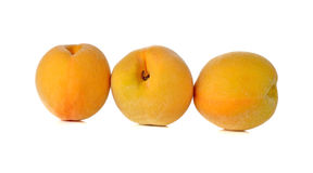 Ripe peach on white background Royalty Free Stock Photos
