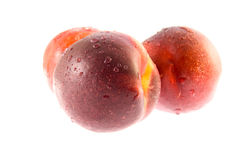 Ripe peaches stock photos