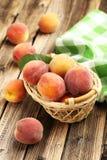 Ripe peaches fruit Stock Photo