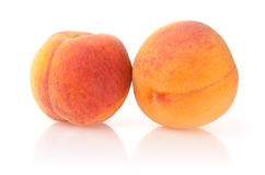 Ripe Peaches. Isolated on White Background Stock Photography