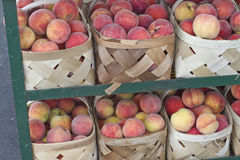 Ripe Peaches at the Market Royalty Free Stock Photo