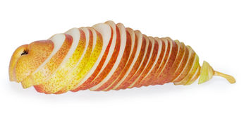 Ripe pear. On white background Royalty Free Stock Photos
