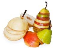 Ripe pear. Isolated on white background Stock Image