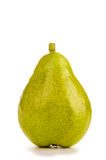 Ripe pear. The big ripe pear was photographed in studio on a white background royalty free stock photos