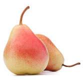 Ripe pear fruit isolated on white background cutout Royalty Free Stock Images