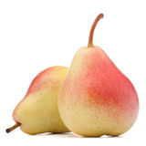 Ripe pear fruit isolated on white background cutout Stock Photography