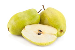 Ripe pear fruit on white Royalty Free Stock Photography