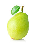 Ripe pear with green Stock Images