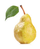 Ripe pear. Isolated on white background stock photos
