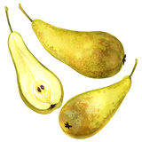 Ripe pear isolated on white background Royalty Free Stock Photos