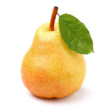 Ripe pear with leaf Stock Image