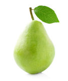 Ripe pear with leaf. Royalty Free Stock Photography