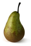 Ripe pear with path. Ripe pear isolated on white background (with clipping path royalty free stock photo
