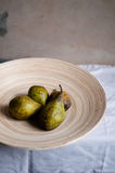 Ripe pear on a tray. Ripe pears on a tray stock photography