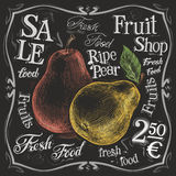 Ripe pear vector logo design template.  fresh Stock Photography