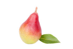 Ripe pear on white background. Royalty Free Stock Image