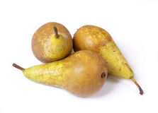 Ripe pears. Ripe, juicy pears on a white background, isolated Royalty Free Stock Images