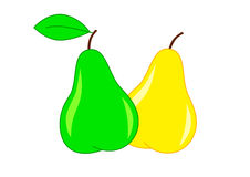 Ripe pears. On a white background Royalty Free Stock Images