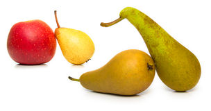 Ripe pears and apple Stock Images