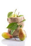 Ripe pears in a bag Royalty Free Stock Image