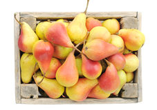 Ripe pears in a box. Royalty Free Stock Photography