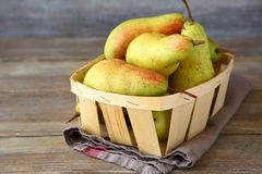 Ripe pears in a box Stock Photos