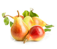 Ripe pears close-up isolated Royalty Free Stock Image