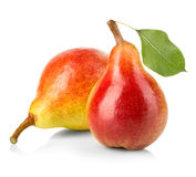 Ripe pears close-up isolated Stock Images
