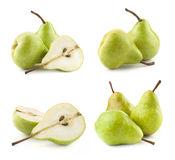 Ripe pears. Collection  on white background Royalty Free Stock Photography